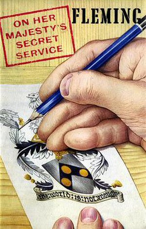 On Her Majesty's Secret Service (novel) - First edition cover, published by Jonathan Cape