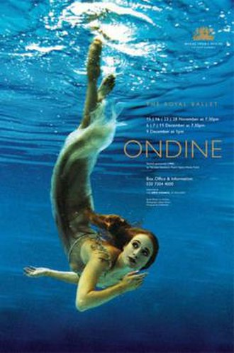 Ondine (ballet) - Sarah Wildor in a poster for the 2000 staging of Ondine by The Royal Ballet