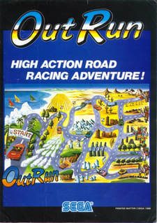 <i>Out Run</i> 1986 video game
