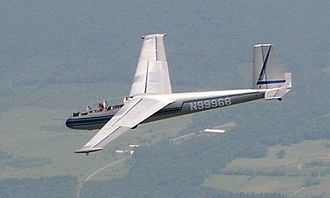 Forward-swept wing - LET L-13 two-seat glider