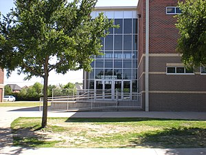"Plano West Senior High School - Building ""B"" houses the science department and all science related classes."