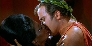 The kiss between Kirk and Uhura is popularly c...