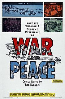<i>War and Peace</i> (1956 film) 1956 historical drama film by King Vidor