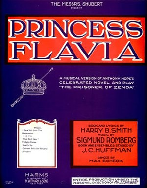 Princess Flavia - Sheet music cover