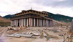 Riwoche Monastery - Riwoche Monastery in 1988, under reconstruction. Photo: S Jones