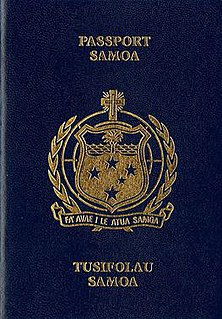 Samoan passport