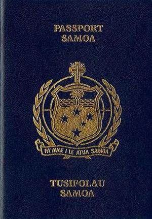 Samoan passport - Samoan passport front cover