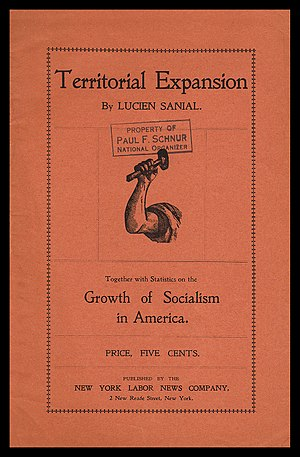 Lucien Sanial - Cover of Sanial's seminal 1901 pamphlet on imperialism, Territorial Expansion.