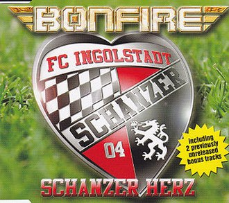 "FC Ingolstadt 04 - The single cover for ""Schanzer Herz""."