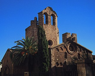 Sant Pau del Camp cultural property in Barcelona, Spain