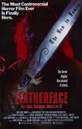 Leatherface: The Texas Chainsaw Massacre III - Theatrical release poster