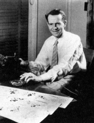 Ted Osborne - Osborne at Disney Studio, c. 1930s.