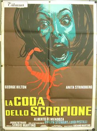 The Case of the Scorpion's Tail - Italian theatrical release poster
