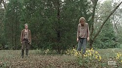 Carol about to kill Lizzie