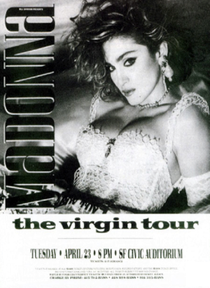 The Virgin Tour - Promotional poster for the tour