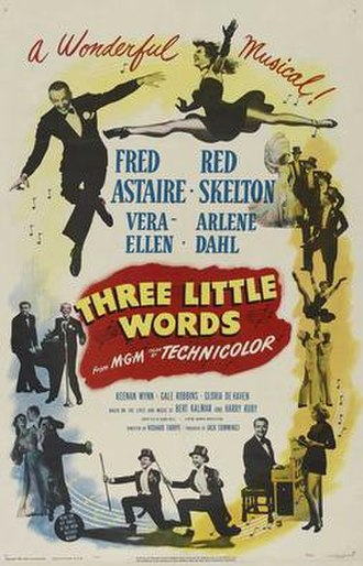 Three Little Words (film) - Theatrical release poster