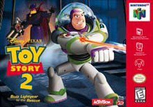 Toy Story 2: Buzz Lightyear to the Rescue - North American Nintendo 64 cover art