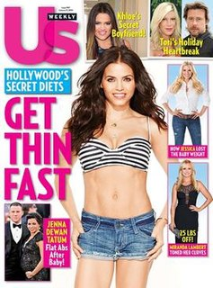 <i>Us Weekly</i> American celebrity and entertainment magazine based in New York City