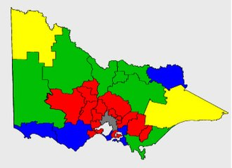2002 Victorian state election - Image: Vic districts pol
