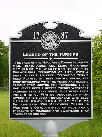 Turnip - Macomber turnip historic marker