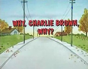 Why, Charlie Brown, Why? - Image: Why charlie brown why title card