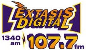 XHASM-FM - Image: XHASM Extasis Digital logo