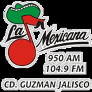 XHMEX-FM - Image: XHMEX La Mexicana 950 104.9 logo