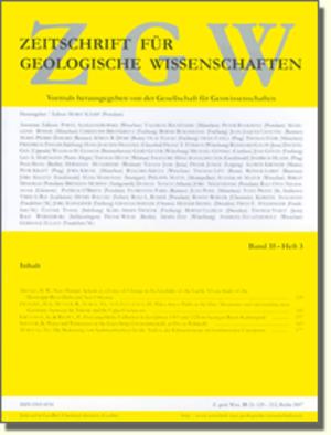 Zeitschrift für Geologische Wissenschaften - Image: ZGW Cover