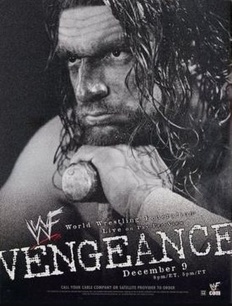 Vengeance (2001) - Promotional poster featuring Triple H and his signature sledgehammer.