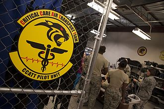 59th Medical Wing - CCATTs operate an intensive care unit in an aircraft cabin during flight adding critical care capability to the Air Force Aeromedical Evacuation System.