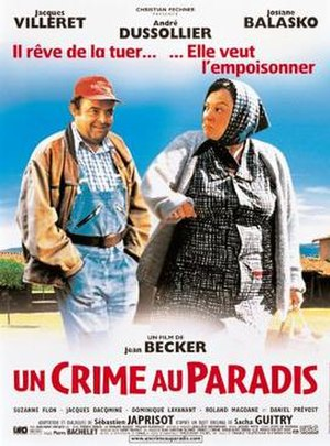 A Crime in Paradise - French Poster