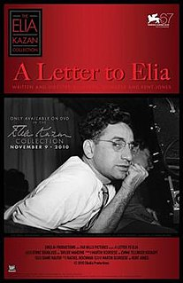 <i>A Letter to Elia</i> 2010 film by Martin Scorsese
