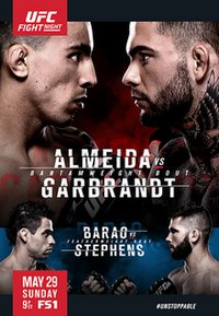 A poster or logo for UFC Fight Night: Almeida vs. Garbrandt.