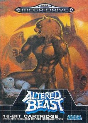 Altered Beast - European Mega Drive box art