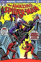 Harry Osborn becomes the new Green Goblin. Cover to Amazing Spider-Man #136. Art by Ross Andru.