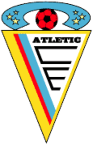 Atlètic Club d'Escaldes - Old logo until 2015.