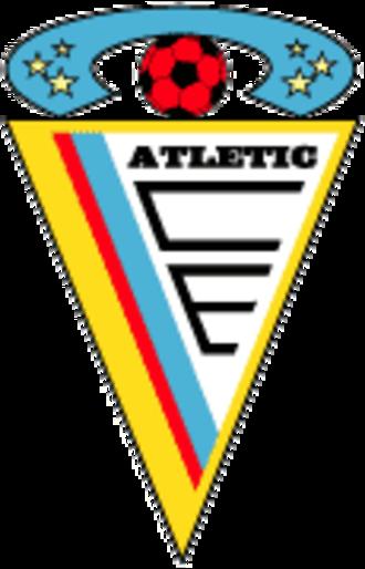 Atlètic Club d'Escaldes - Old logo until 2015.