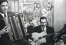 Baro Ferret (right) with Gus Viseur, still from 1960s film clip.jpg