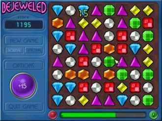 Bejeweled - Normal gameplay mode