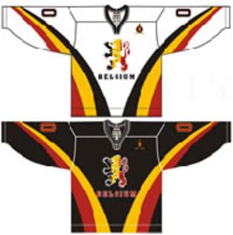 Belgium men's national ice hockey team - Image: Belgium national ice hockey team Home & Away Jerseys