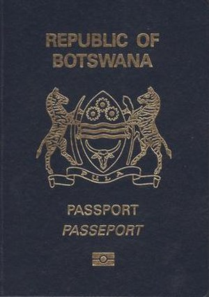 Botswana passport - The front cover of Botswanian biometric passport