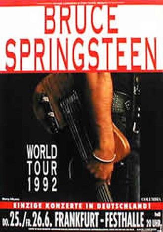 Bruce Springsteen 1992–1993 World Tour - Image: Bruce World Tour Frankfurt