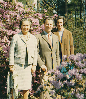 Family of David Cameron - Left to right: Enid Watson with Ian and Mary Cameron, the parents and paternal grandmother of David Cameron, c. 1969