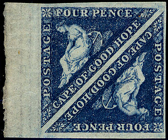 Postage stamps and postal history of the Cape of Good Hope - 4d Cape Triangular, SG 19