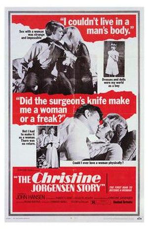 The Christine Jorgensen Story - The Christine Jorgensen Story film poster.