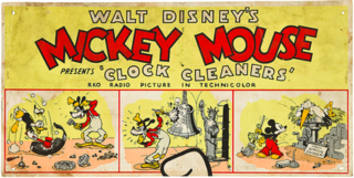 <i>Clock Cleaners</i> 1937 Mickey Mouse cartoon