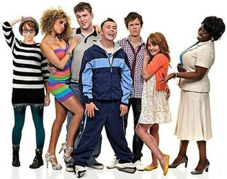 Coming of Age (2008 TV series) - (From left to right) Minnie Crowe, Hannah Job, Ceri Phillips, Joe Tracini, Tony Bignell, Anabel Barnston, Ellen Thomas.