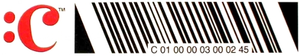 "CueCat - A CueCat ""cue"". The bars are tilted 22.5° to the left, both for aesthetic reasons and to avoid Lemelson parallel barcode patent concerns."