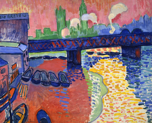 20th-century French art - André Derain, 1906, Charing Cross Bridge, London, co-founder of Fauvism with Matisse