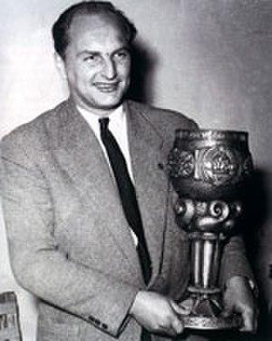 Franjo Wölfl - Franjo Wölfl in 1951 holding the Yugoslav Cup trophy.